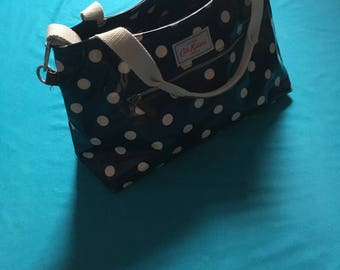 Cath Kidston Blue Polka Dot Handbag Cross Body Bag 80's Kitsch