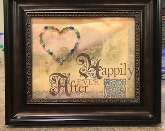 Beach Glass Picture Happily Ever After