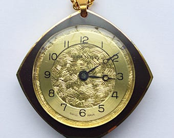 Vintage watch pendant and chain