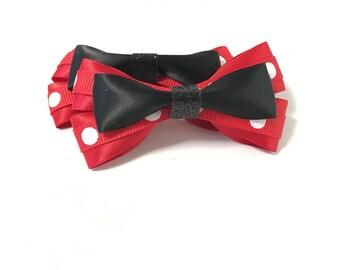 Minnie Mouse, hair bow, hair bows, Minnie Mouse costume, hair accessories, hair accessory, Minnie Mouse birthday, hair clip, baby bows, dots