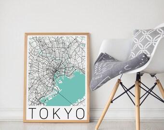 Tokyo Map / Tokyo Poster /Tokyo / Tokyo Print / Tokyo Art /Tokyo City Map/ Travel Art  /Map of Tokyo/Japan Poster/ Map Art/ Tokyo Map Poster