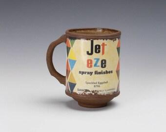 """Porcelain Mug """"Jet Eze"""" w/ Speckled Liner"""