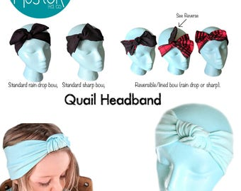 A4 - Knotty Headband Bundle PDF Sewing Pattern and Tutorial knotted bow quail knot top silly goose headband diy pattern how to