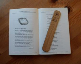 Thank you For Helping Me Grow Oak Bookmark. Teachers Gift.