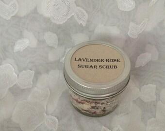Lavender rose sugar scrub