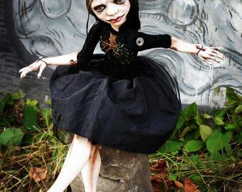 Art doll, Ooak art doll, OOAK doll,Black doll, Paperclay doll, Art clay doll, bjd, bjd doll