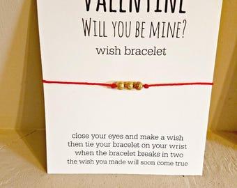 Will You Be Mine Valentine Wish Bracelet