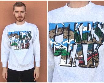 Vintage Pikes Peak Sweatshirt size LARGE ~ 14780