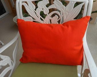 """Orange Duck Throw Pillow  Qty - 1 ea, size 20x15""""    20.00 ea"""