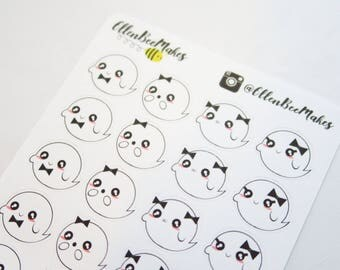 Kawaii Ghost Stickers
