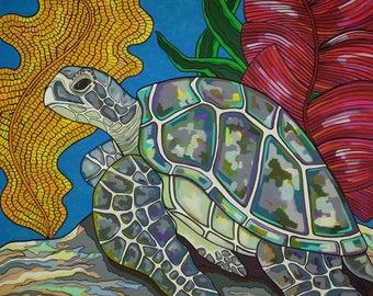 Honu Sea Turtle  Art Print