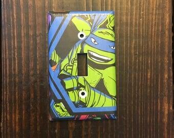 Leonardo Ninja Turtle Single Toggle Light Switch | Teenage Mutant Ninja Turtles - TNMNT - Little Boys - Cartoon Decor - Art - Ready To Ship