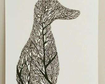 Fox Tree Silhouette IV