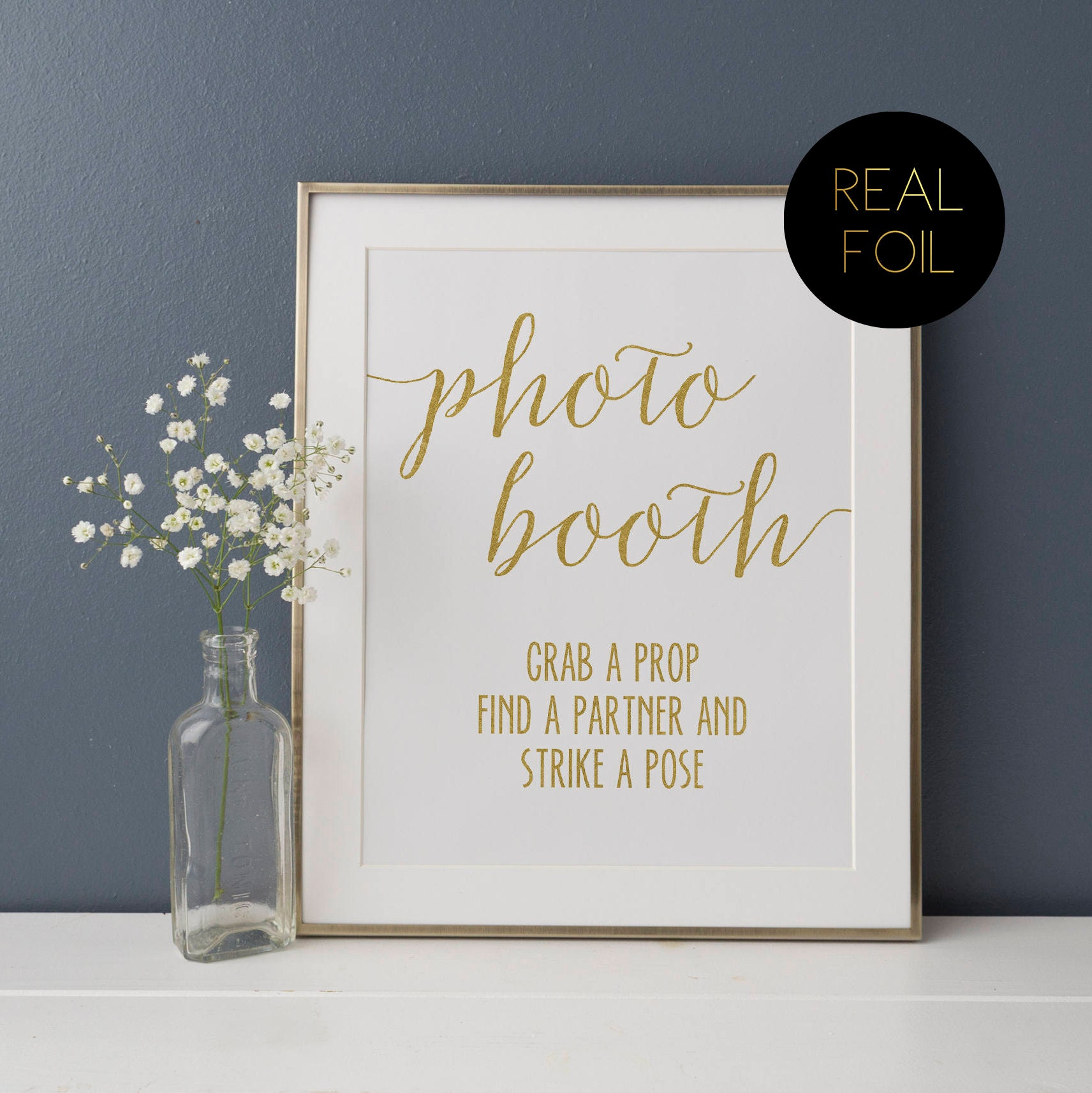 Photo Booth Guest Book, Foiled Wedding Prints, Polaroid Guestbook ...