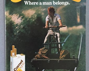 "1981 Camel Lights Cigarettes Print Ad - ""Where a man belongs"""