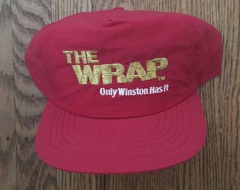 Vintage Winston Cigarettes Snapback Hat Baseball Cap