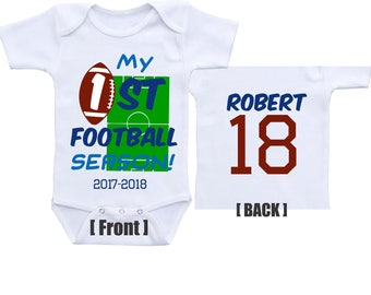 My First football season baby football outfit Sports Onesie Football baby clothes Football onesie Football baby shower baby football jersey