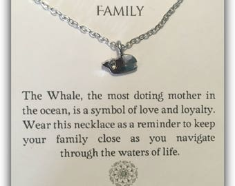 Family Whale Pendant Necklace