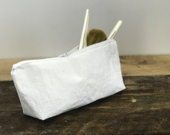 Wipeable Cosmetic Bag / Recycled Grocery Bag