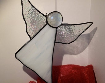 Stained Glass Guardian Angel Suncatcher Gift