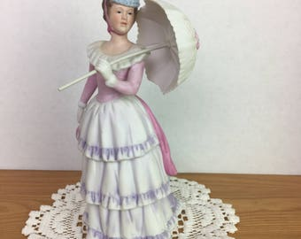 Victorian Lady with Parasol, Homco #1431