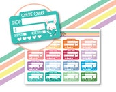 Ready to ship online order tracker stickers, Etsy orders stickers, Online shopping stickers, Shopping tracker stickers, Cute stickers