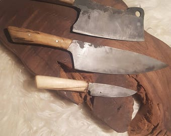 3 piece butcher knife set