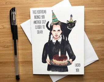 Cute Wednesday Birthday Card, Happy Birthday Card for Girlfriend, Girl Power Birthday Cards, Feminism Birthday Card, Funny BDAY Card Friend