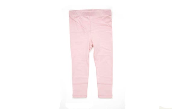 IRIS - plain long legging for kids: girls & boys - pale pink
