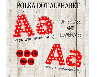 POLKA DOT Alphabet, svg font, Polka Dotted Letters, Teacher Font, Cut File, Dotted Monogram, Disney Monogram, Disney svg, Instant Download