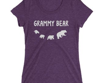 Grammy Bear And Three Bear Cubs Ladies' short sleeve t-shirt