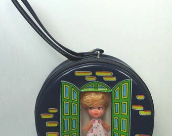 Vintage Liddle Kiddles Doll and Case Clone 1960s Hong Kong Knock-Off Doll