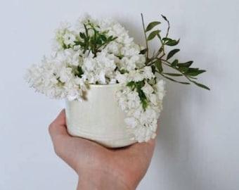 Modern Handmade White Porcelain Vase