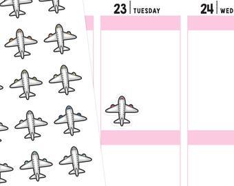 Airplane Planner Stickers, Airplane Stickers, Travel Stickers, Travel Planner Stickers, Vacation Stickers, Flight Stickers