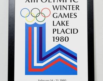 Lake Placid New York Winter Olympics 1980 Poster