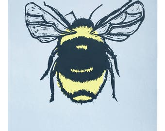 Bee Silk Screen Print