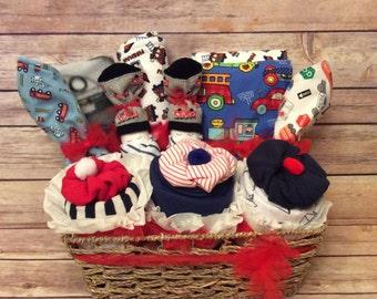 Baby Layette Baby Gift Basket Baby Shower Gift newborn boy gift Baby boy gift Baby shower gift baby boy layette welcome home baby boy