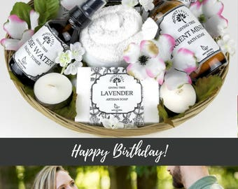Birthday Gift Basket Birthday gifts for her spa gifts basket girlfriend birthday gift ideas birthday gift for her gift basket for women her