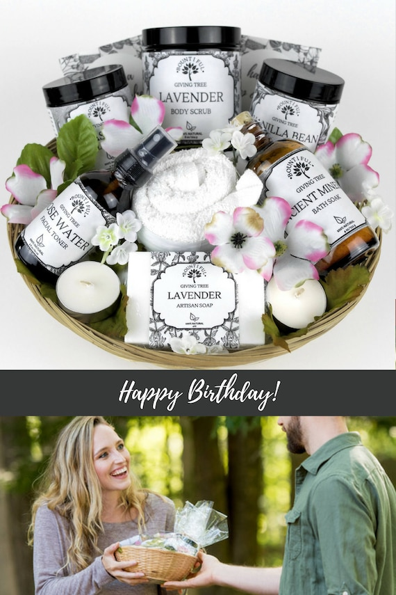 Birthday gift basket birthday gifts for her spa gifts basket like this item negle Choice Image