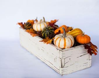 Fall Centerpieces; Fall Mantel Decor; Fall Centerpiece for Tables; Wood Centerpiece Box; Table Centerpiece; Fall Farmhouse Decor; Box