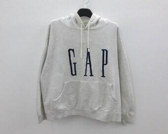 GAP Sweatshirt Men Size S/M Vintage GAP Hoodie Gap Vintage Casual Embroidered GAP Pullover Made in Korea