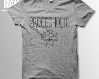 Broccoholic *Vegan* t-shirt tee // vegan t-shirts / vegan clothing / vegan shirt / vegetarian / animal rights / herbivore