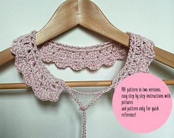 Crochet collar pattern, Dandelion collar pattern