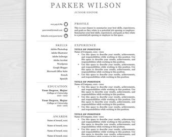Examples Of Resume Pdf Creative Resume Template Resume For Word  Pages Resume Resume Antonym Excel with Resume For Free Online Word Professional Resume Template Resume Template Resume Template Instant  Download Resumes Included Cover 2 Page Resumes Word