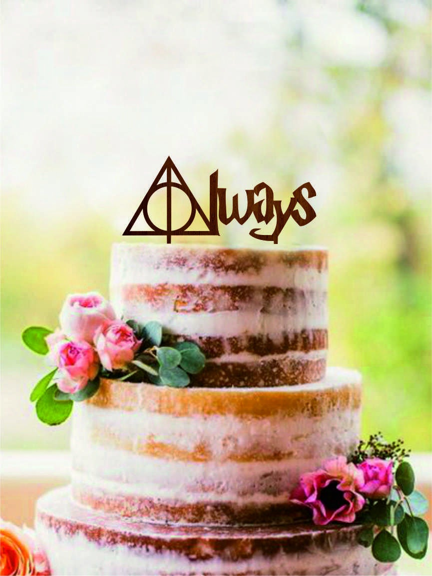 Always Cake Topper Harry Potter Wedding Cake Topper Harry