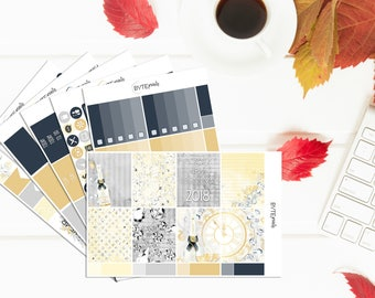 New Years 2018 || FULL Weekly Kit || Stickers for use with the Erin Condren Life Planner