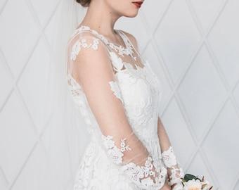 Classic fingertip bridal veil wedding veil ivory veil