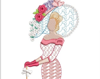 Southern belle machine embroidery download 3 diff sizes   3x3.8   4x5  5x6