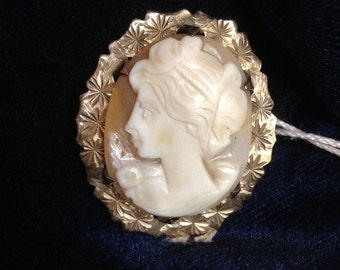 9ct Gold Exceptional Cameo Brooch