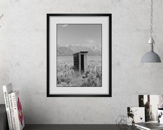 Bathroom Wall Art / Funny Bathroom Print / Powder Room Decor / Rustic Style  / Modern